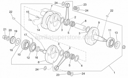 Engine - Drive Shaft - Aprilia - Bearing RH 25x62x17