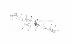 Engine - Gear Control Assembly I - Aprilia - Selector shaft