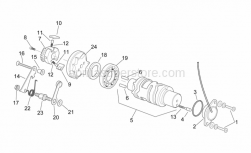 Engine - Gear Control Assembly Ii - Aprilia - Shift cam gear