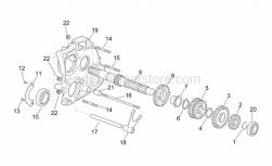 Engine - Primary Gear Shaft - Aprilia - Nut