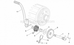 Engine - Starter Assembly - Aprilia - Kick starter spring lock