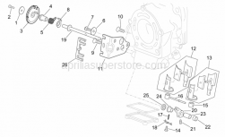 Engine - Valves Assembly I - Aprilia - Exhaust valve cable plate