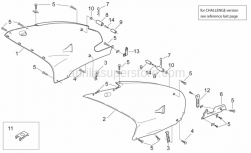 Frame - Central Body - Aprilia - RH side panel, r./b.