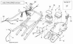 Frame - Electrical System - Challenge Vers. - Aprilia - Screw w/ flange M6x20
