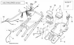 Frame - Electrical System - Challenge Vers. - Aprilia - Screw w/ flange M6x25