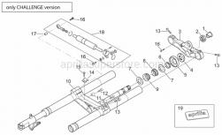 Frame - Front Fork - Challenge Version - Aprilia - Screw w/ flange M5x12