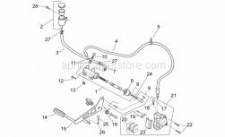 Frame - Rear Master Cylinder - Aprilia - Rear brake pipe