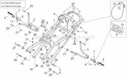 Frame - Saddel Support - Rear Foot Rests - Aprilia - Helmet lock cable