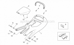 Frame - Saddle Unit - Aprilia - RH black saddle sup cov.plug
