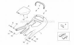Frame - Saddle Unit - Aprilia - LH black saddle sup cov.plug