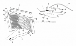 Frame - Water Cooler - Aprilia - Hose clip, green D11x6,6x1