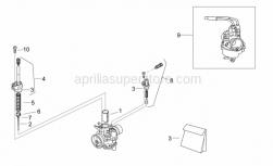 Engine - Carburettor I - Se-Ts - Aprilia - Conical pin A34