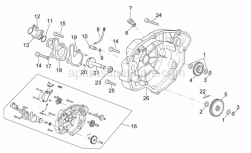 Engine - Clutch Cover - Aprilia - Water pump body seal