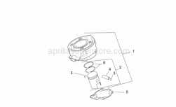 Engine - Cylinder - Piston - Aprilia - Cylinder with piston