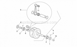 Engine - Drive Shaft - Aprilia - Crankshaft assy