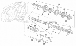 Engine - Gearbox Driven Shaft - Aprilia - Outside circlip D14