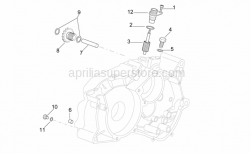 Engine - Left Crankcase - Aprilia - Tachometer driven gear