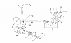 Engine - Oil Pump - Manifold - Aprilia - Outside circlip D8