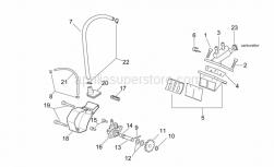Engine - Oil Pump - Manifold - Aprilia - Blue steel washer D8,4x16