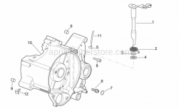 Engine - Right Crankcase - Aprilia - Clutch lever return spring