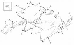 Frame - Central Body - Aprilia - RH side panel, grey