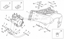 Frame - Frame - Cradle - Aprilia - Central fairing fixing plate