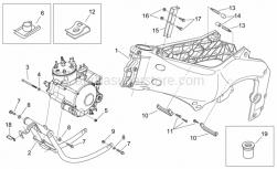 Frame - Frame - Cradle - Aprilia - Screw w/ flange M6x30