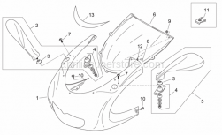 Frame - Front Body I - Aprilia - Mirror insertion kit