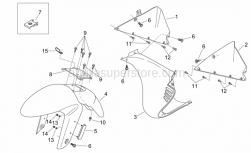 Frame - Front Body Ii - Aprilia - Cable-guide