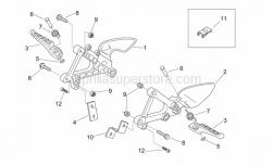 Frame - Front Footrests - Aprilia - LH fairing fixing plate