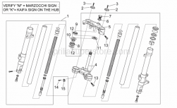 Frame - Front Fork I - Aprilia - Steering washer