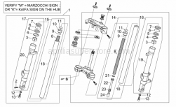 Frame - Front Fork Ii - Aprilia - Stroke limit stop