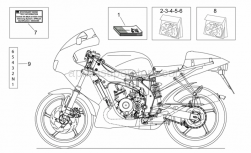 Frame - Op.'S Handbooks And Decal - Aprilia - Rear fairing decal set
