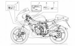 Frame - Plate Set - Aprilia - ECE dataplate