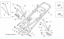 Frame - Rear Footrests - Aprilia - Screw w/ flange M8x25