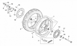 Frame - Rear Wheel - Aprilia - Rear brake disc