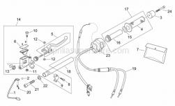 Frame - Rh Controls - Aprilia - Right half handlebar