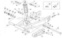 Frame - Swing Arm - Shock Absorber - Aprilia - Swing arm, black
