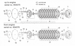 Engine - Clutch I - Aprilia - Steel clutch discs 10 pc.