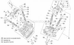 Engine - Cylinder Head And Valves - Aprilia - Rear cylinder head cpl.grey