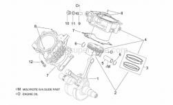 Engine - Cylinder - Piston - Aprilia - Cylinder with piston, grey