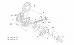 Engine - Oil Pump - Aprilia - Internal and external rotor