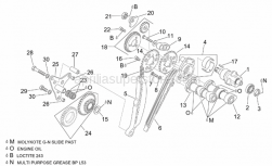 Engine - Rear Cylinder Timing System - Aprilia - Upper balance shaft gear cpl.