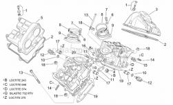 Engine - Valves Cover - Aprilia - Spacer screw cpl. m6x23