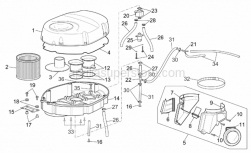 Frame - Air Box - Aprilia - Spec. self-tap screw 3,5x20
