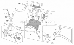 Frame - Clutch Pump - Aprilia - Lever pin