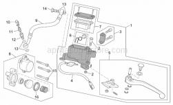 Frame - Clutch Pump - Aprilia - Bored screw