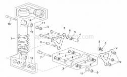 Frame - Connecting Rod - Rear Shock Abs. - Aprilia - Pin