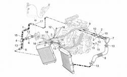 Frame - Cooling System - Aprilia - Water hose manifold/cooler