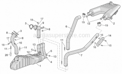Frame - Exhaust Pipe - Aprilia - RH rear exhaust pipe
